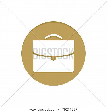 Gold Vector Icon Briefcase. Golden web icons collection item. Icon symbo vector illustration
