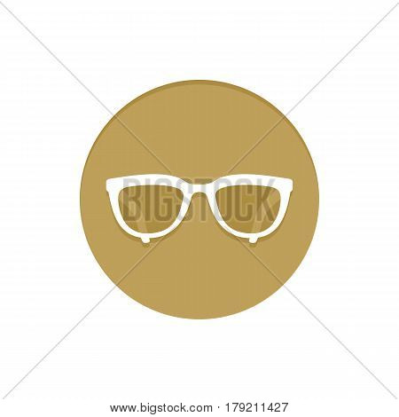 Gold Vector Icon Eyeglasses. Golden web icons collection item. Icon symbo vector illustration