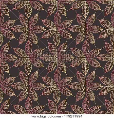 Ornate seamless pattern with hand drawn floral elements. Stock vector illustration for decoration wallpaper textile design.