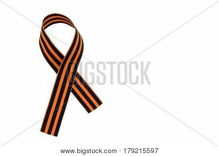 St. George's Ribbon Isolated On White Background. The Symbol Of The Great Victory