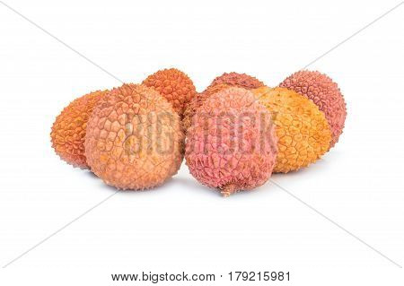 Ltchi chinensis isolated on a white background cutout