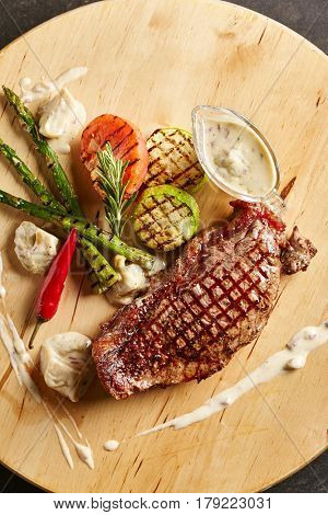 Beef Steak - BBQ Strip Steak (Grilled Beef Strip Loin Steak)