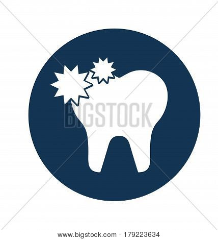 tooth with caries isolated icon vector illustration design