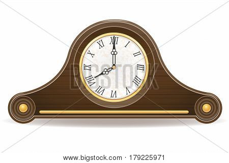 clock old retro icon stock vector illustration isolated on gray background