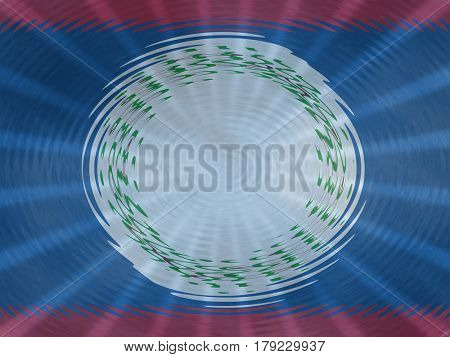 Belize flag background with ripples and rays illustration