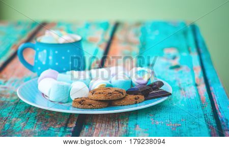 Marshmallow Cookies And Chocolate