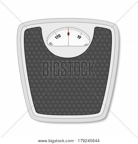 Bathroom floor weight scale. illustration in flat style isolated on white