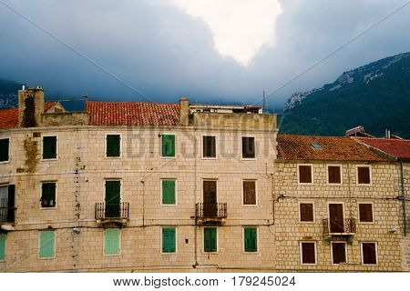 Old house in Vis, Croatia. Traveling, vacation, journey concept.