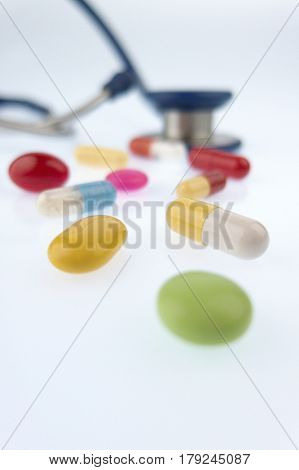 tablets and a stethoscope