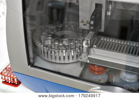 medical devices for analyzes. blood tested for AIDS and other diseases. definition of DNA.