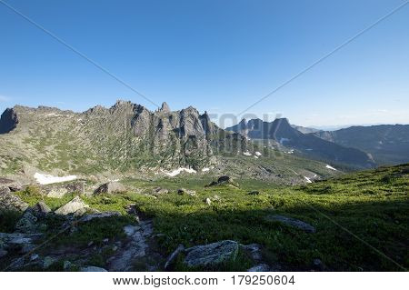 Pass Tale In The Mountains Ergaki Of The Western Sayan