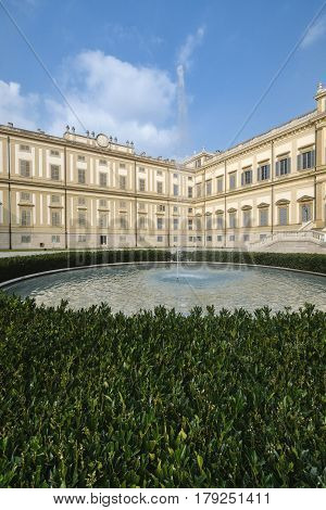 Monza (Brianza Lombardy Italy) - Royal Palace the exterior at fall