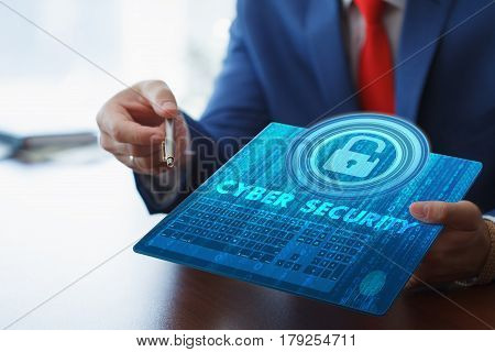 Concept Of Business Security, Safety Of Information From Virus, Crime And Attack.