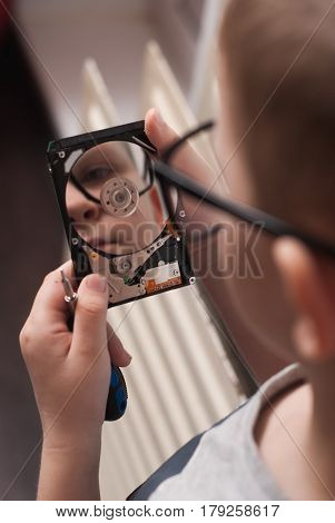 Little Boy In Big Glasses,