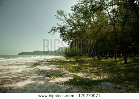 Beach in a marine national park Khao Sam Roi Yot in Sam Roi Yot district Prachuap Khiri Khan Province Thailand.