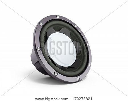 Black Loudspeaker 3D Render Isolated Over White