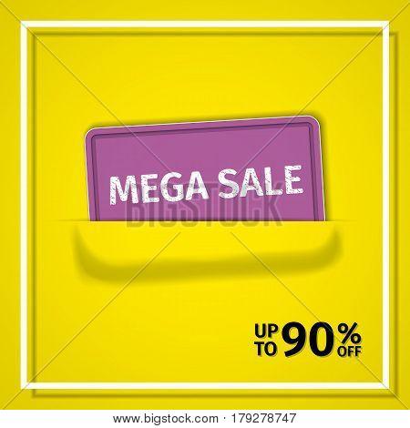 Sale banner. Vector discount label. Poster design.