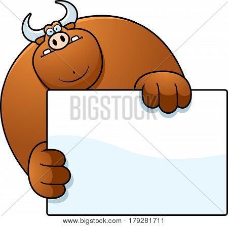 Cartoon Bull Hiding