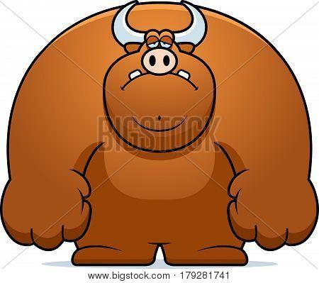 Sad Cartoon Bull