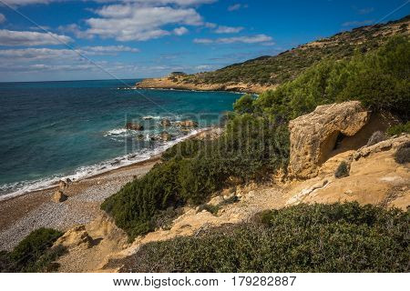 Scenic Landscape With A Beach At Rodos