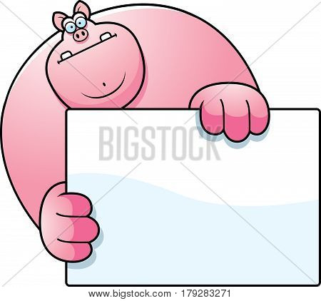 Cartoon Pig Hiding