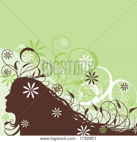 Floral Abstract Woman
