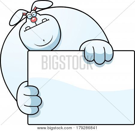 Cartoon Rabbit Hiding