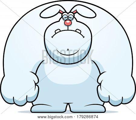 Sad Cartoon Rabbit