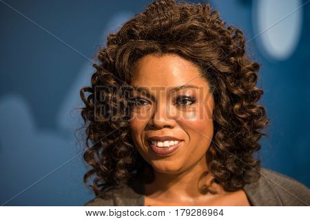 Bangkok -july 22: A Waxwork Of Oprah Winfrey On Display At Madame Tussauds On July 22, 2015 In Bangk