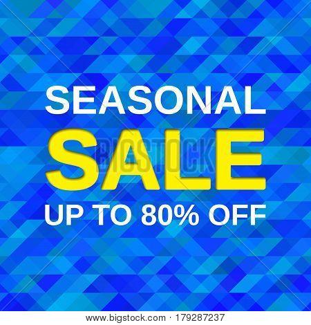 Sale banner. Seasonal offer discount label. Vector web sticker. Template design background.