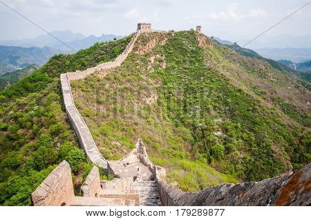 Greta whatch tower of great wall by Simatai in China