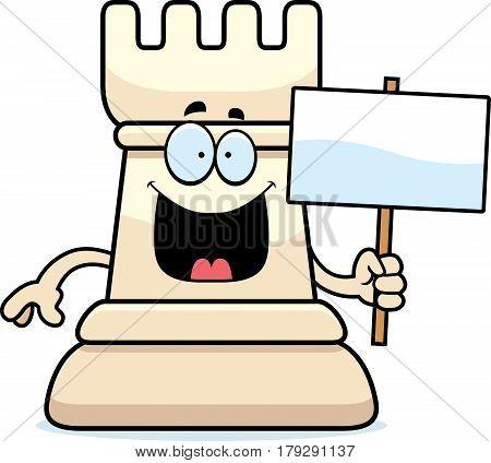 Cartoon Chess Rook Sign