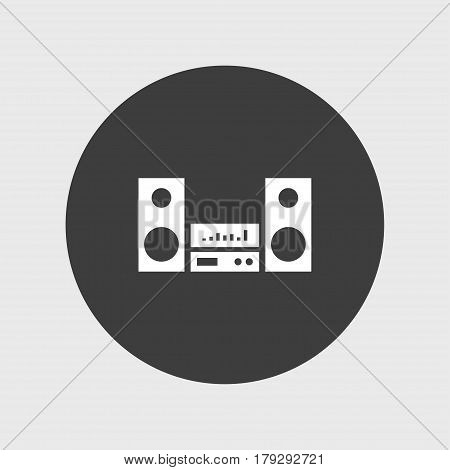 Audio sistem icon simple speaker sign vector illustration