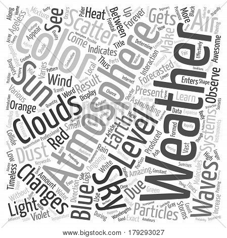 Weather Changes Can Determine What Color The Sky Will Be text background wordcloud concept
