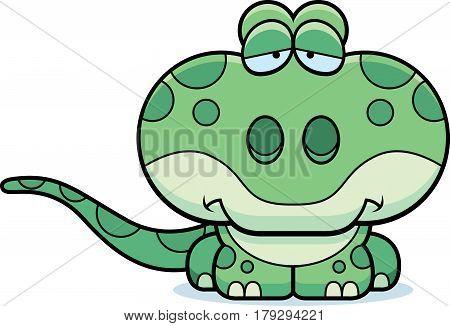 Cartoon Sad Gecko