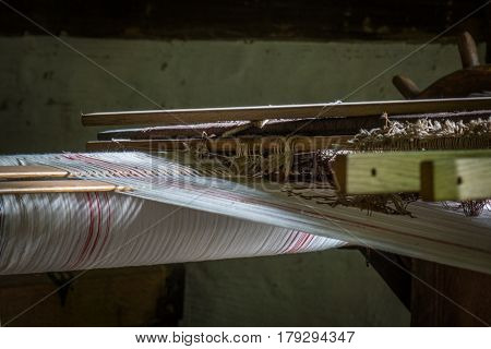 The Old And Ancient Loom In A Room