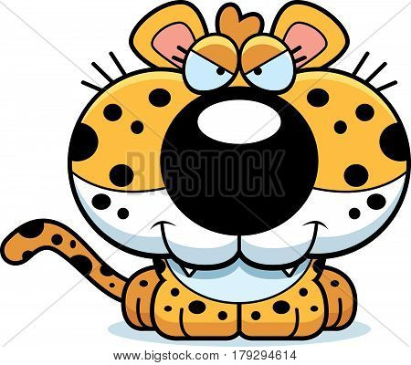 Cartoon Sly Leopard