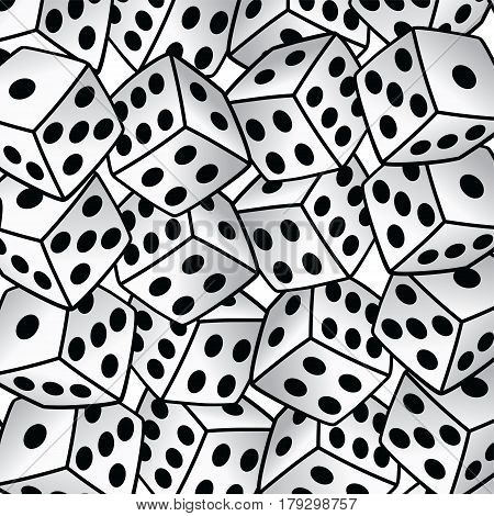 White Dice Risk Taker Gamble Vector Art Background