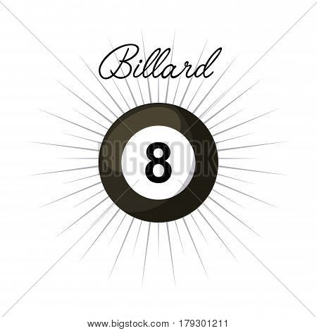 billard ball icon over white background. colorful design. vector illustration