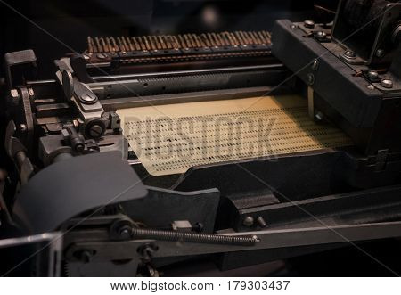 The Punched Card Of An Old Device