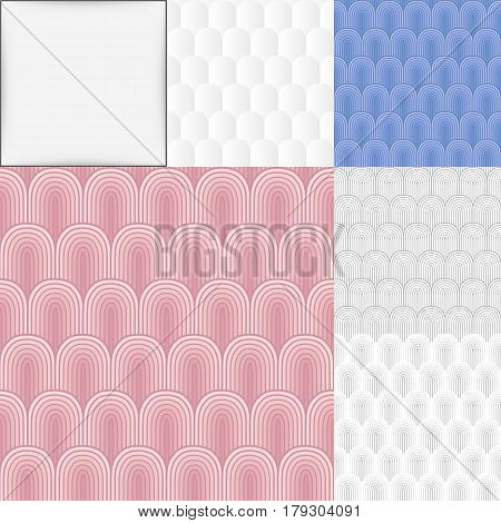 Seamless abstract colored background set vector illustration
