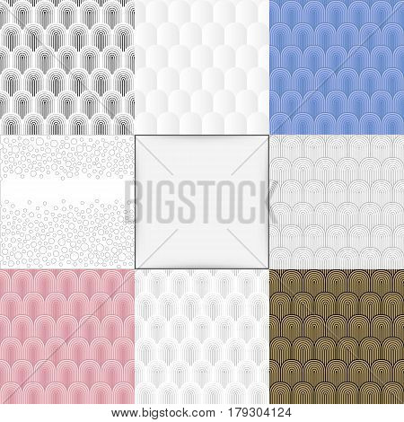 Seamless colored abstract background set vector illustration