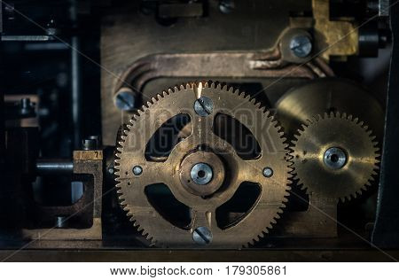 The Mechanism Of A Old And Vinage Machine