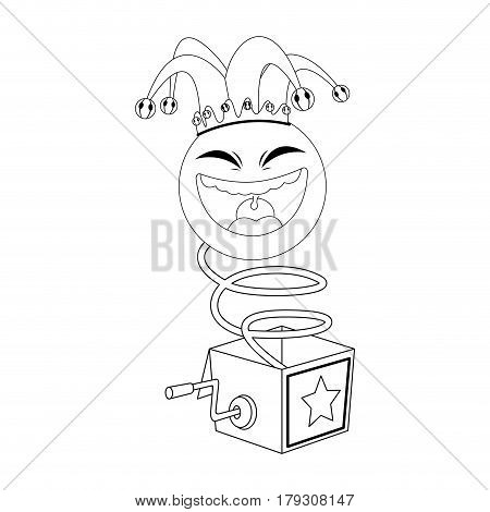 Surprise Box with Funny Joke icon over white background. vector illustration