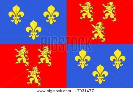 Flag of Somme is a department of France. It is part of the Hauts-de-France region. Vector illustration