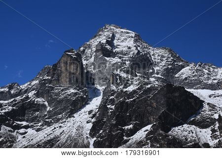 Khumbi Yul Lha. Sacred mountain for the Sherpa people.