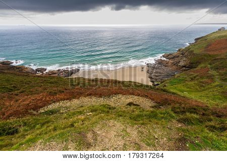 Rinsey Head And Cove In Cornwall