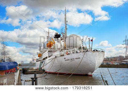 KALININGRAD, RUSSIA - MAR 21, 2017: Ship