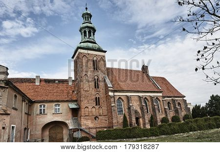 Gothic monastery church in Gniezno in Poland