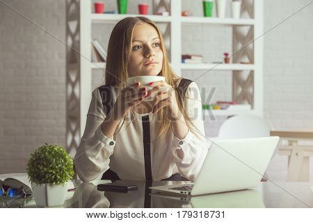 Attractive Woman In Office